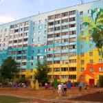 Декоративная фасадная окраска жилого дома