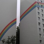 декоративная Покраска вентилируемого фасада Радуга