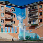 декоративная окраска фасада Классика