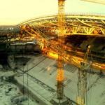 11 Установка поликорбанатной кровли на стадионе Рубин. (Казань)