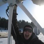 14 монтаж геокупола(зима)
