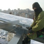 2 Установка поликорбанатной кровли на стадионе Рубин. (Казань)