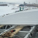 5 Установка поликорбанатной кровли на стадионе Рубин. (Казань)