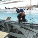9 Установка поликорбанатной кровли на стадионе Рубин. (Казань)