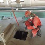 Работы в силосах по обеспыливанию