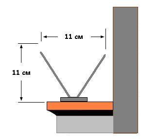 установка антиприсадных шипов схематически